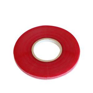 Fita de selagem de saco permanente linha vermelha BOPP